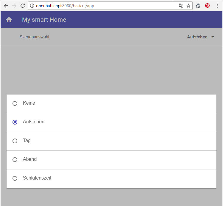 OpenHab Basic UI