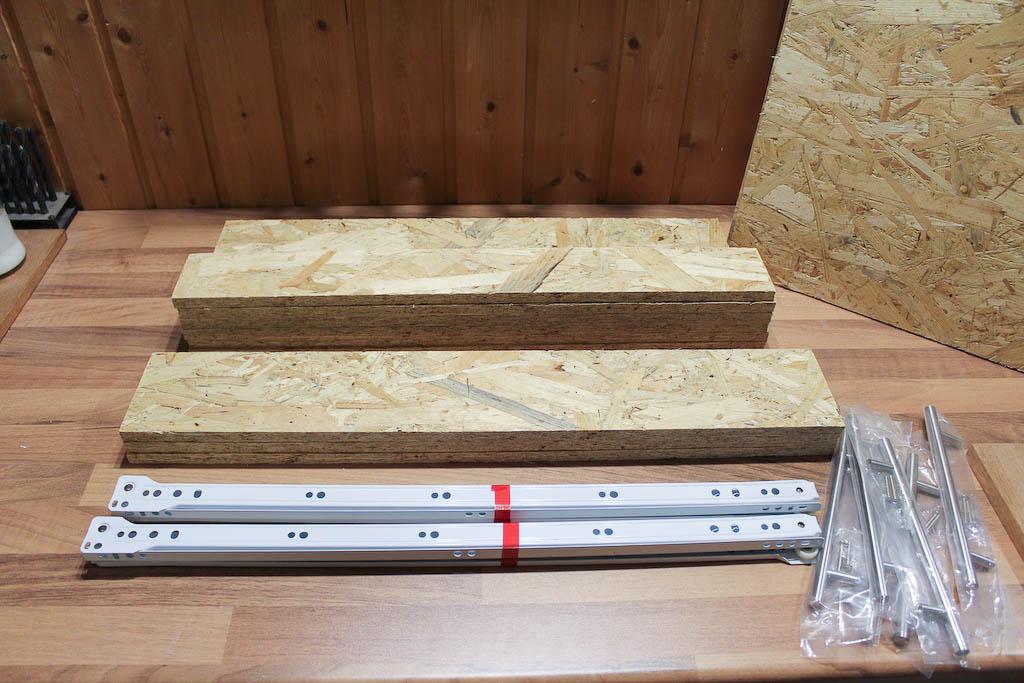 mehr stauraum f r die werkstatt mit schubladen aus osb platten builder 39 s cave. Black Bedroom Furniture Sets. Home Design Ideas